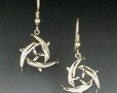 Triangle Dolphin Earrings