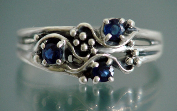 Sapphire Ring 3BD Triple or available with other stone choice