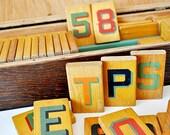 Vintage Wood Alphabet Letter Set