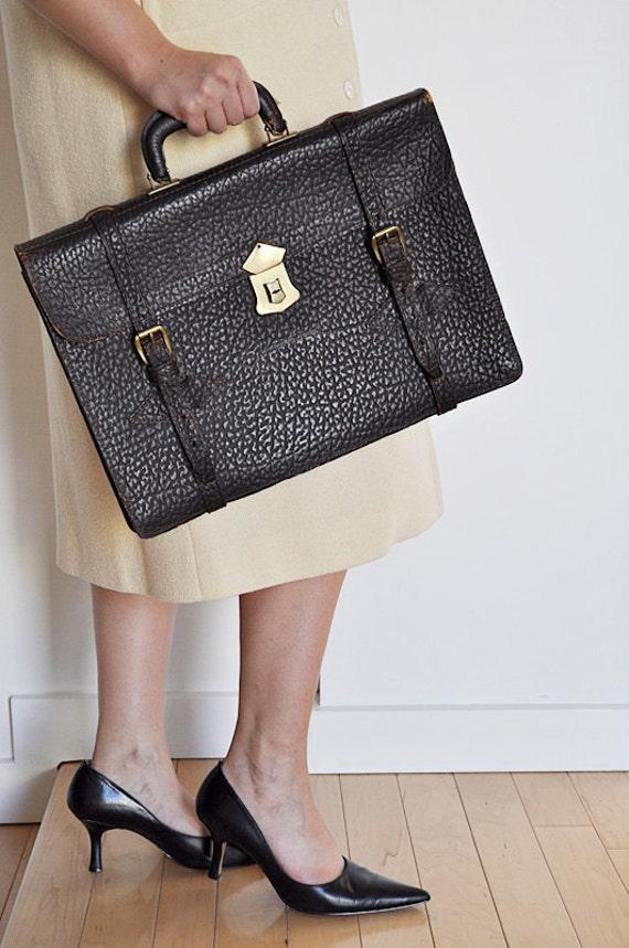 Antique Leather Satchel Briefcase