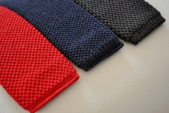 Vintage Skinny Wool Ties Set of Three