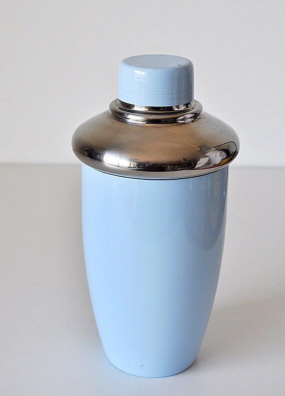 Mid Century Powder Blue Cocktail Shaker