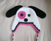 Puppy Crocheted Hat in Any Size or Color Combination