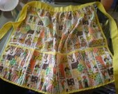 Sweet Seventies Patterned Half Apron