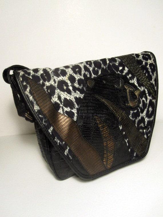 Fantastic Vintage Panther Shoulder Bag