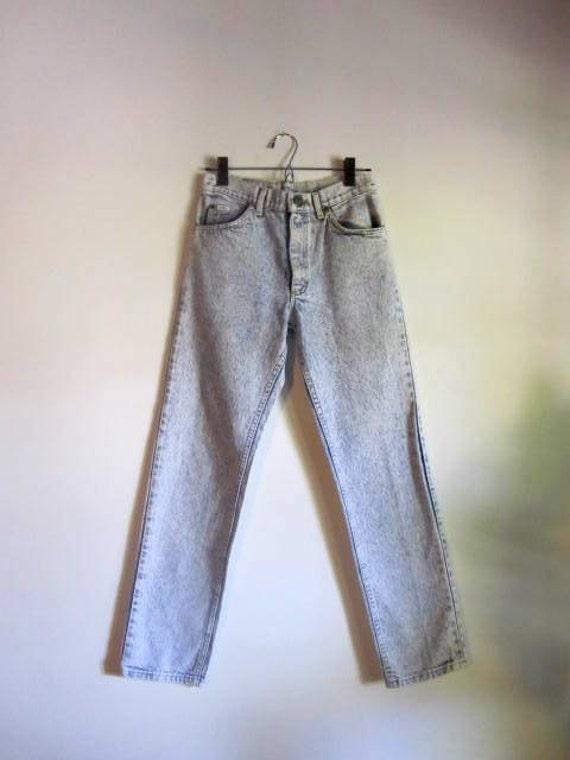 Black Friday Sale / Retro 80's Acid Wash Skinny Jeans