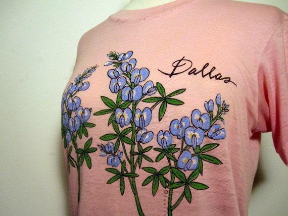 "Vintage Pink Heathered 80's ""Dallas"" Tee"
