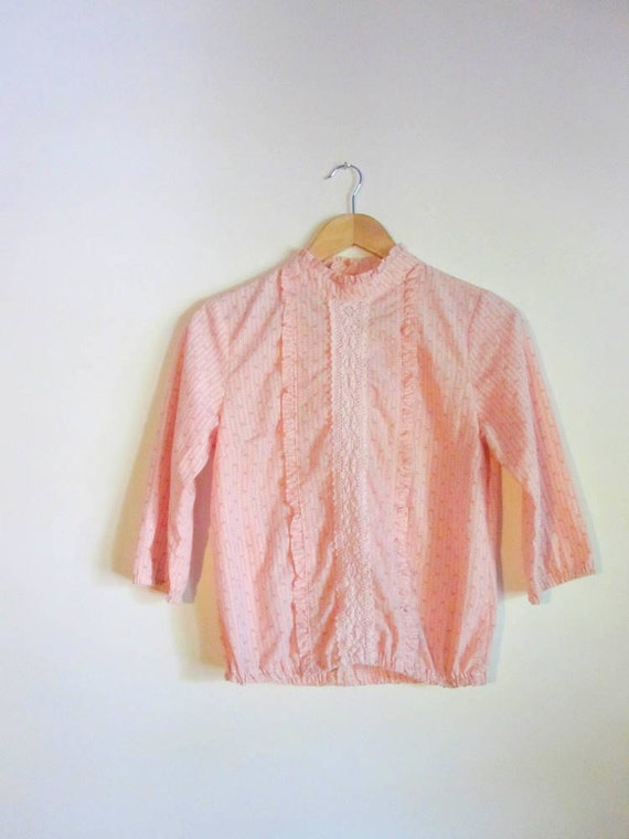 Vintage 60's Pink Prairie Top