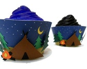 Camping Cupcake Wrappers - set of 12