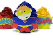 Super Hero Cupcake Wrappers - set of 12