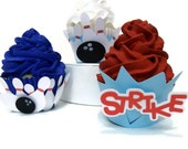 Bowling Cupcake Wrappers Trio - Set of 12