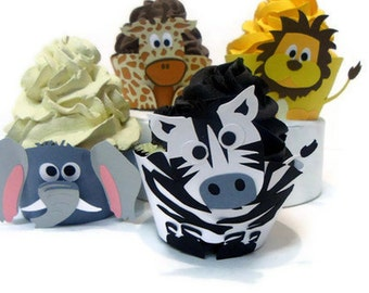 Safari Cupcake wrappers - set of 12