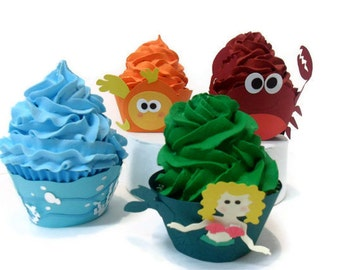Under the Sea Cupcake Wrappers - Set of 12