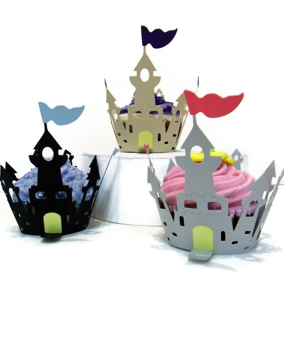 Cupcake Wrappers Castle Wrapper - set of 12
