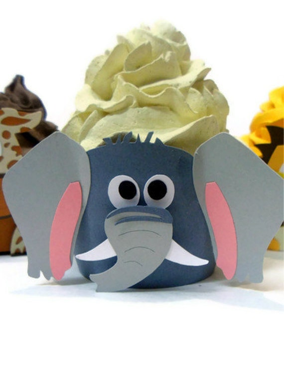 Elephant Cupcake wrappers - set of 12