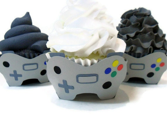 Video Game Cupcake Wrappers - Set of 12