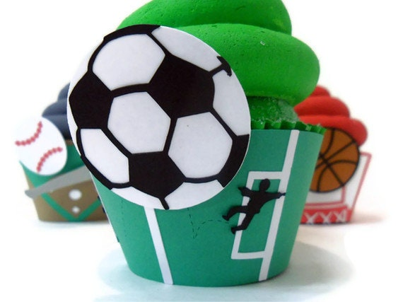 Soccer Cupcake Wrappers - Set of 12