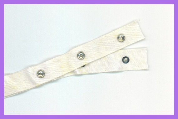 Snap tape snaps on cotton tape sewing baby clothes crafts