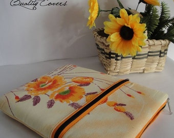 Customizable Laptop cover - Laptop sleeve - Laptop case / made-to-order for any size / extra Large Pocket for accesories / 2 Zippers