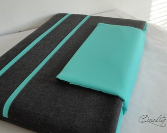 Customizable Laptop for Color fabrics and Size - Laptop sleeve Laptop cover - Padded - Waterproof lining - can be any size or and color