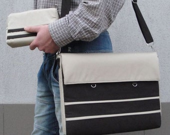 Customizable for Color Fabric and Sizes Laptop Bag and Detachable WALLET- Messenger bag- Detachable STRAP-fully PADDED bag-Waterproof lining