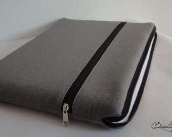 Customizable laptop case / laptop cover / laptop sleeve - PADDED - WATERPROOF lining - 2 zippers - extra POCKET
