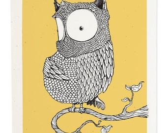 Yellow Owl, Gicleé Print