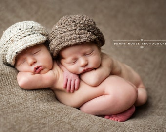 Newborn Black Baby Twins Twin newborn hat baby girl boy