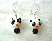 Glass Panda earrings. Ready to ship.