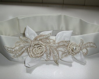 Bridal Sash, Wedding Sash, Wedding  Belt, Bridal Sash Belt
