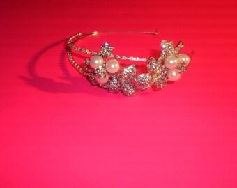 Wedding Tiara, Bridal Tiara, Tiara Headband, Tiara Head Piece,  Art  Deco Style Tiara