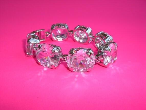 Wedding Bracelet Vintage Inspired, Crystal Wedding Bracelet, Bridal Crystal Bracelet, Crystal Bracelet,