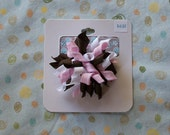 Mini Korker Bow Light Pink, Brown, White (K01-005)