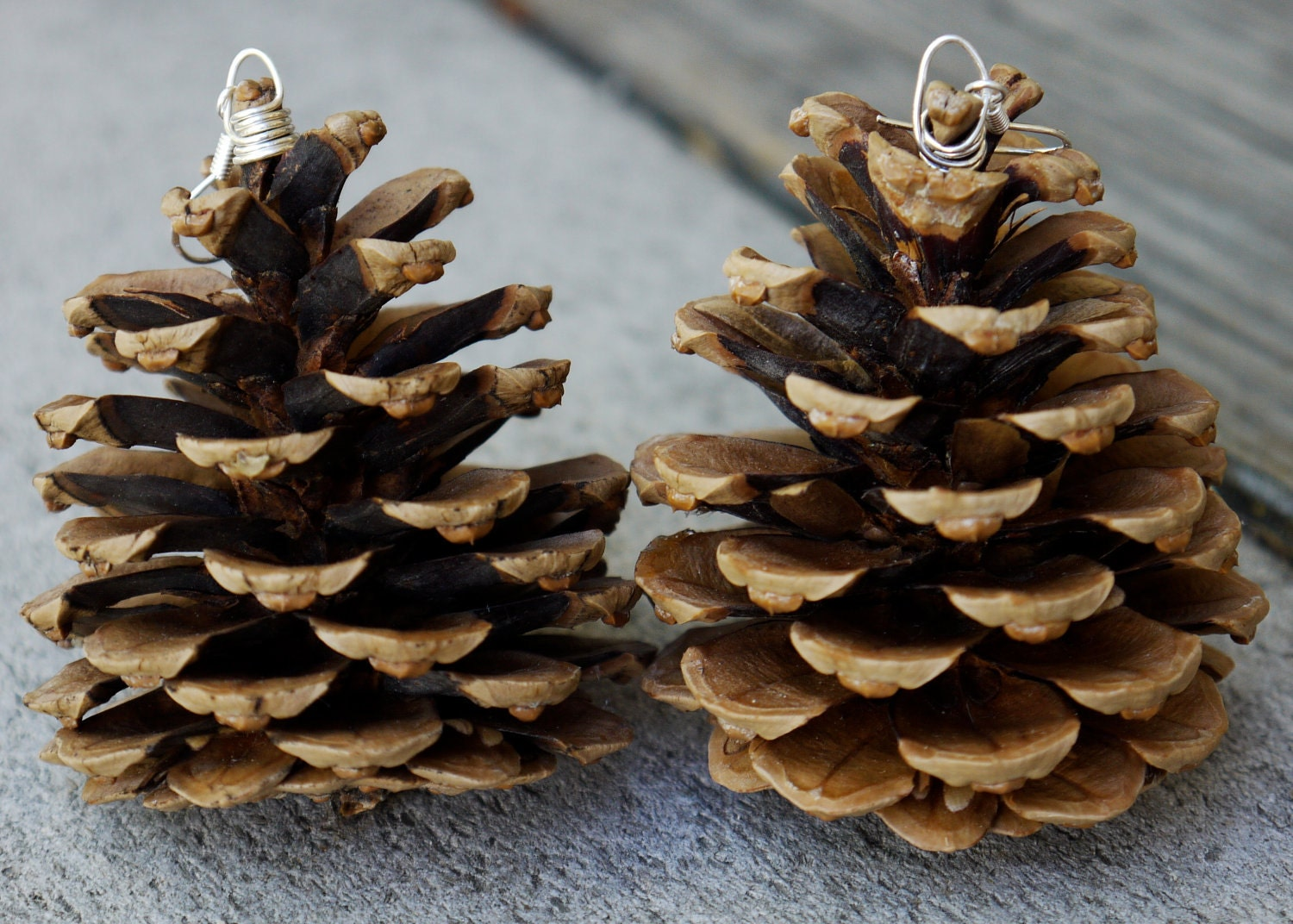 Forest wanderer tree ornaments large pine cone tree by for Pine cone tree decorations
