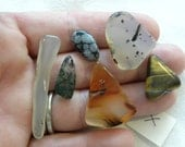 Tumbled Cabochons X Ready for DIY Silversmith Wire Wrap Crafts