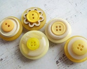 Recycled Vintage Button Magnet Set