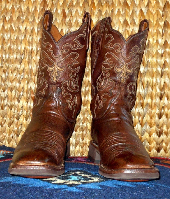 Reserved for Jackie Lucchese Brown Cowboy Western boots size 9b