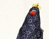 stuffed chicken toy blue blossom country style : The ConeHen