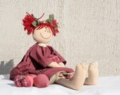 Strawberry Girl, country style raggedy doll
