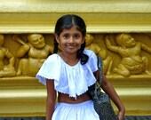 Sri Lanka Photography - A Young Girl - 8x10 Fine Art Photo Print