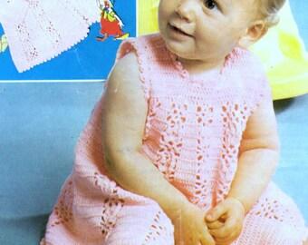 Instant Download VKNC09 Baby Dress and Jacket Crochet Pattern Reborn - PDF - Digitally restored - EMail