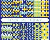 Ikat Native Pattern - Digital Scrapbook Paper Pack, Pattern, Patterned Paper, Card, Invites, Photographers, Craft - Commercial Use