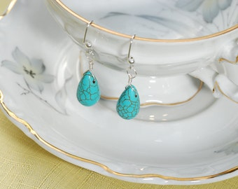 Turquoise Briolette Drop Earrings