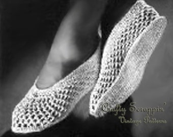 Vintage Cool Open Mesh Slippers Pattern