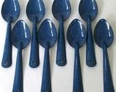 Blue Splatter Graniteware Spoons - c. 1980s