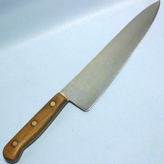 vintage chicago cutlery large 10 chef 39 s knife. Black Bedroom Furniture Sets. Home Design Ideas
