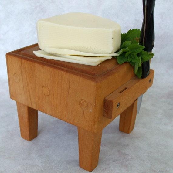 J.K. Adams Mini Butcher Block Cheese Cutting Board - Made in Vermont