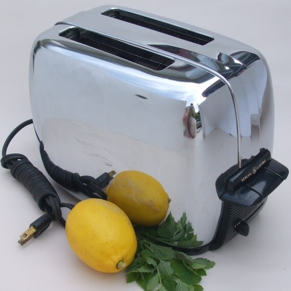 General Electric Toaster Chrome Vintage 1950s By