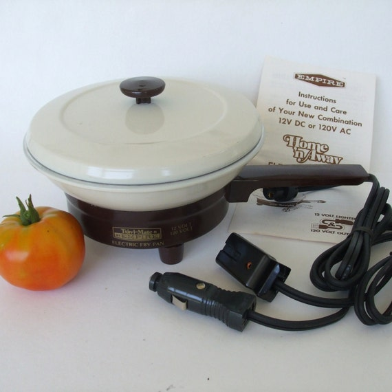 Empire Travel Mate Electric Frying Pan Home 12v By