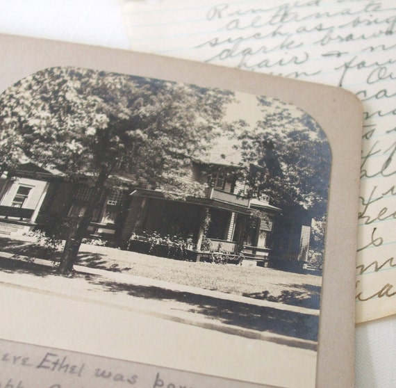Antique Photograph Stereoview Photo House Grand Rapids MI